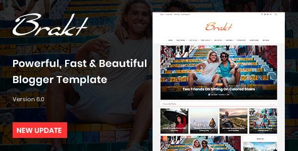 Brakt Personal Blogger Template Free Download