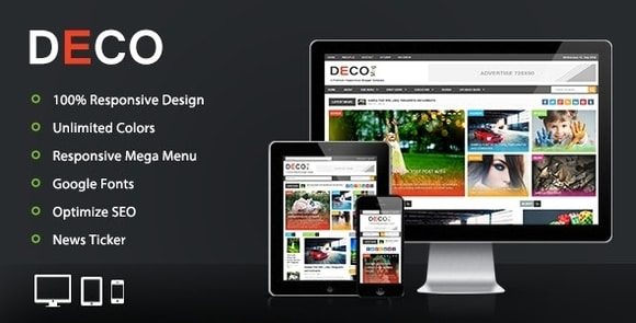 Deco Mag Responsive Magazine Blogger Template Free Download
