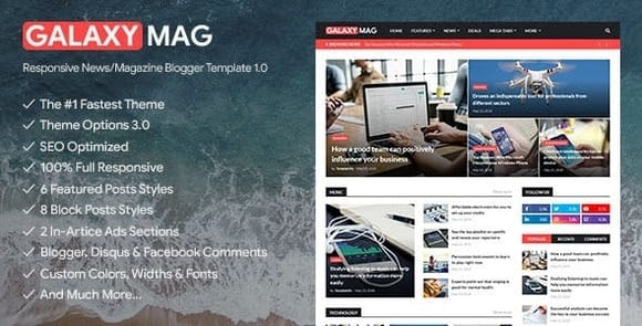 GalaxyMag - Responsive News & Magazine Blogger Template Free Download