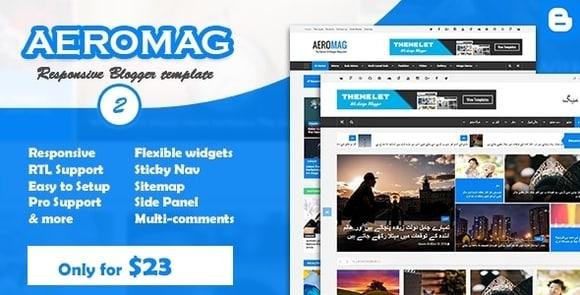 AeroMag News & Magazine Responsive Blogger Template