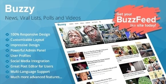 Buzzy News, Viral Lists, Polls and Videos Nulled Free Download