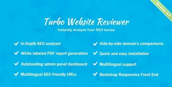 Turbo Website Reviewer In-depth SEO Analysis Tool Nulled Script Free Download