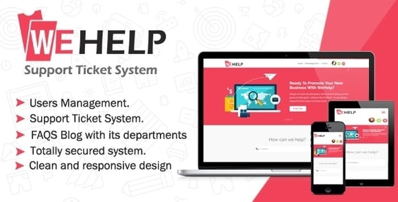 WeHelp Ticket Support System Nulled Script Download