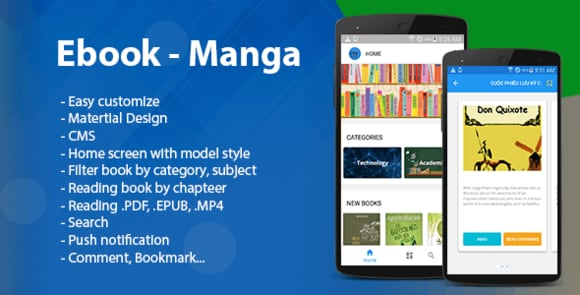 Ebook - Manga - Comic Android App Source Code