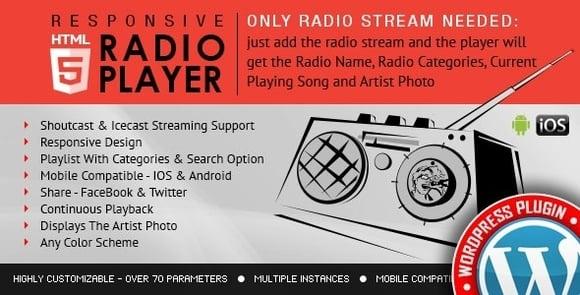 Radio Player Shoutcast and Icecast WordPress Plugin