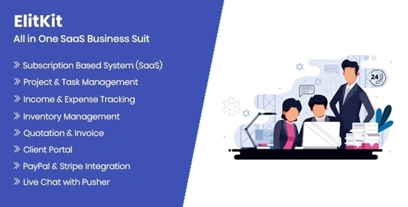 ElitKit All In One SaaS Business Suit Nulled Script