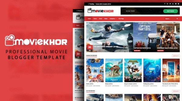MovieKhor Professional Movie Blogger Template