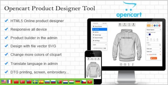 Opencart Custom Product Designer Nulled