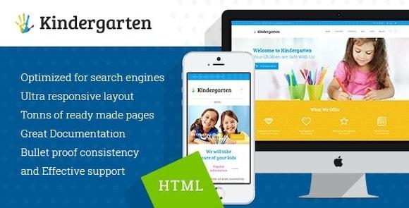 Kindergarten Children HTML Theme Download
