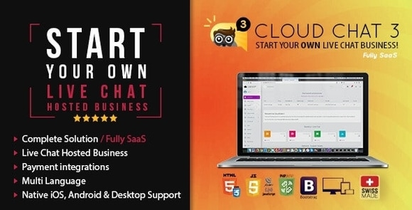 Fully SaaS Live Support Chat Cloud Chat 3 Nulled Script
