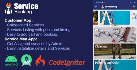 Service Booking Android App ServPro On Demand Services