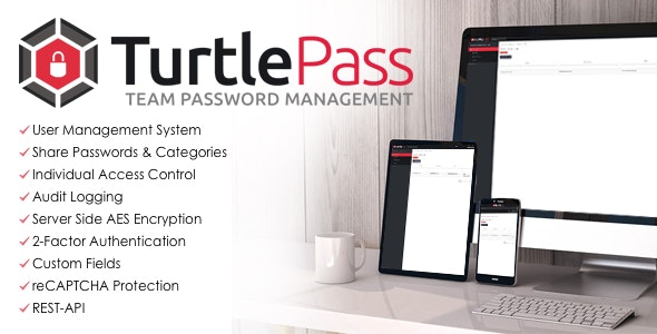 TurtlePass Team Password Manager PHP Script