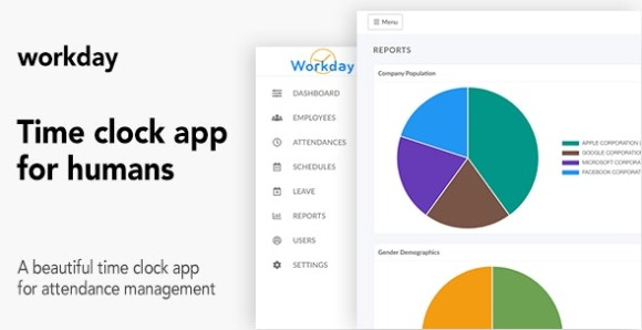 Workday A Time Clock Application For Employees PHP Script