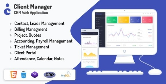 Client Manager CRM and Billing Management Web Application