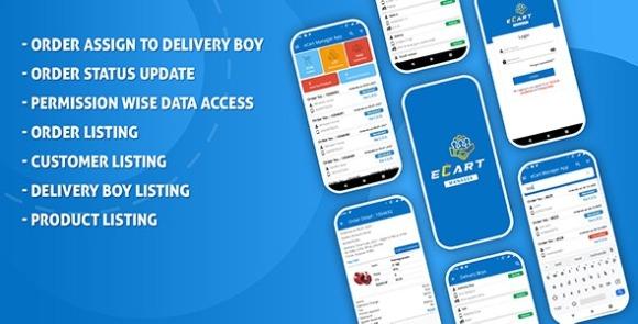 eCart Ecommerce Admin Store Manager App Source Code