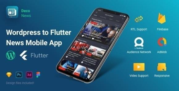 Flutter Deco News Mobile App Source Code for Wordpress