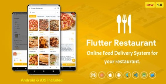 Flutter Restaurant Online Food Delivery System for iOS and Android