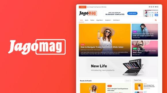 JagoMag Premium Magazine Blogger Template Download