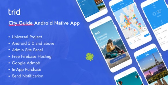 Trid City Travel Guide Android Native with Admin Panel Firebase App Source Code