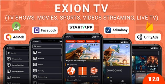 Exion TV - Watch Live TV with Movies (Live Streaming, IPTV, Shows, Series) Application