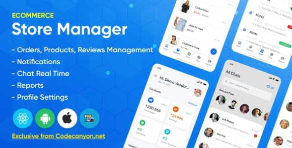 Store Manager - React Native Application For Wordpress Woocomerce Apps