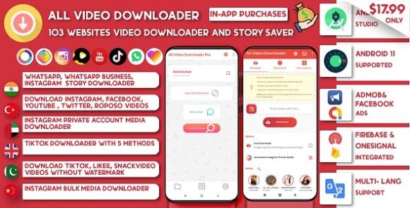 All Video Downloader & Story Saver v7.6 – 103+ Websites Support App Source Code