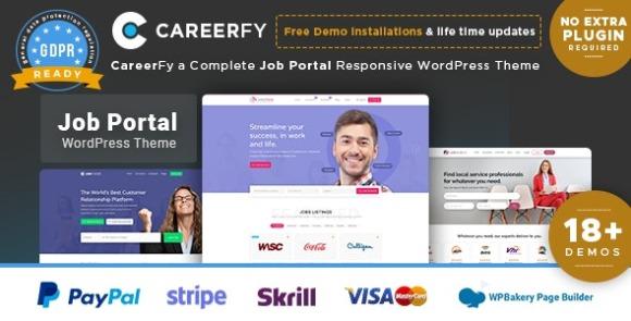Careerfy 6.8.0 – Job Board WordPress Theme Free