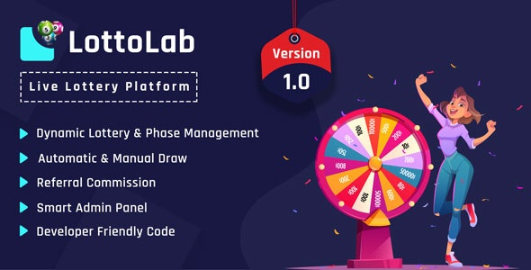 LottoLab Live Lottery Platform Nulled PHP Script
