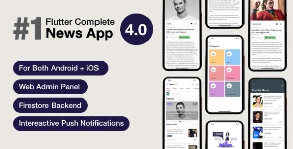 News Hour v4.0.2 – Flutter News App with Admin Panel Source Code