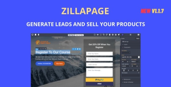 Zillapage Landing Page and Ecommerce Builder PHP Script
