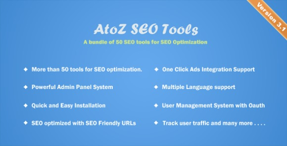 AtoZ SEO Tools Search Engine Optimization Tools Nulled Script