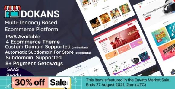 DOKANS Multitenancy Based Ecommerce Platform SaaS PHP Script