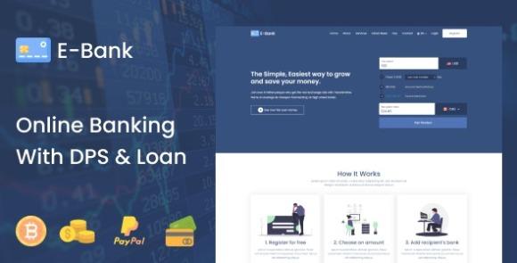 E-Bank v1.2 – Complete Online Banking System With DPS & Loan Management Software