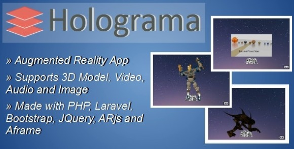 Holograma Augmented Reality Builder App PHP Script