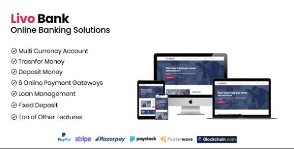Livo Bank v1.1 – Complete Online Banking System PHP Script