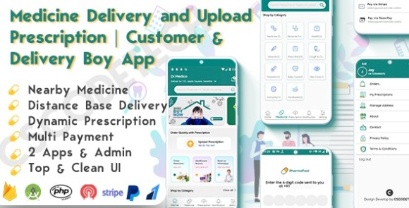 DrMedico v1.2 – On Demand Pharmacy Delivery with Medicine Delivery and Upload Prescription