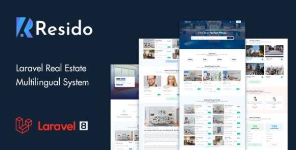 Resido v1.8 – Laravel Real Estate Multilingual System Script
