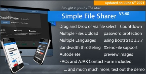 Simple File Sharer v3.60 – PHP Script By Themac