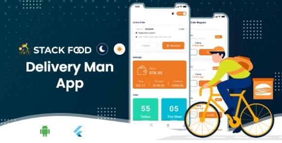 StackFood Multi Restaurant v2.0 – Food Ordering Delivery Man App Source Code