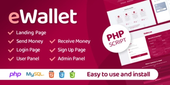 eWallet v3.0 – PHP Script Online Payment System like PayPal