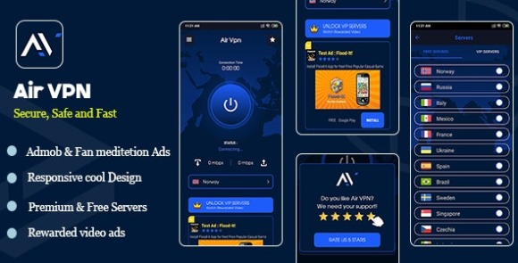Air VPN v1.0 – Android App Source Code Free