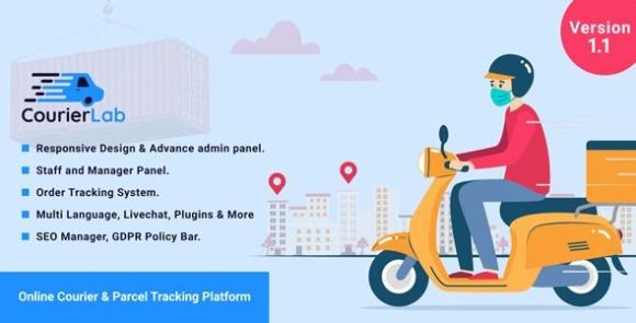 CourierLab v1.1 – Online Courier and Parcel Tracking Platform Script