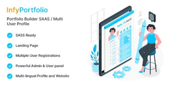 InfyPortfolio-Saas v1.1.0 – Laravel SaaS Personal Portfolio / Resume / CV Website Theme PHP Script