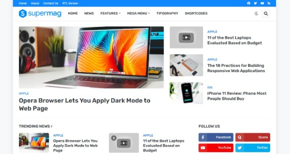 SuperMag v1.4 – (Premium) Responsive Magazine Blogger Template Free